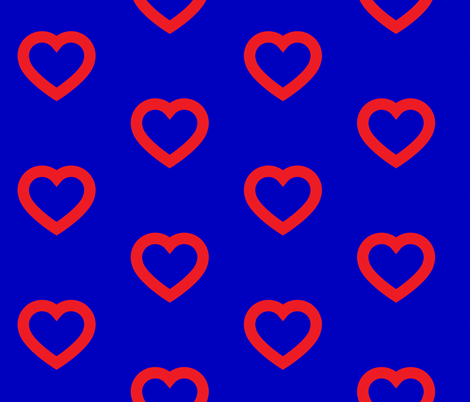 Phish Fishman Heart Donut Red Circles BRIGHT Colors fabric by khaus on Spoonflower - custom fabric