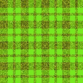 CD1 - Sparkly Olive and Lime plaid