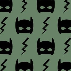 bat mask olive superhero bat mask bat blot fabric - olive