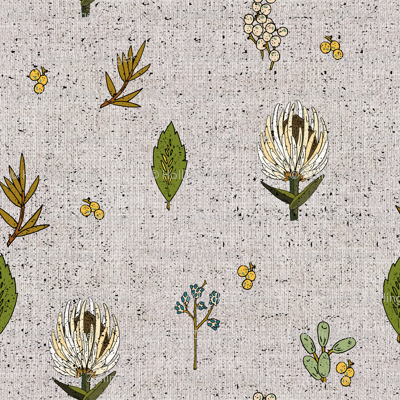 FRENCH LINEN BOTANICAL SMALL