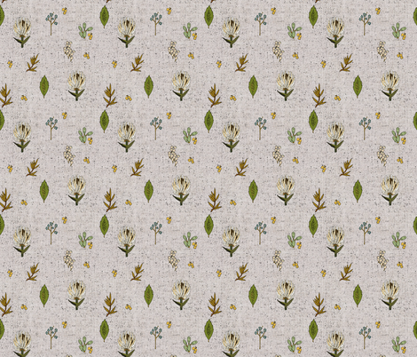 FRENCH LINEN BOTANICAL SMALL fabric by holli_zollinger on Spoonflower - custom fabric