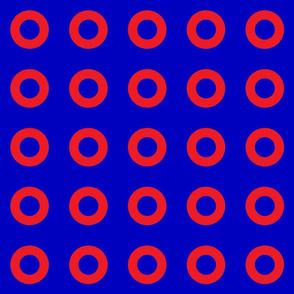 Phish Fishman Red Circles Donut Red Circles BRIGHT Colors