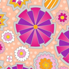 flower power with polkadots
