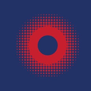 Phish Fishman Donut Red Circle Coordinate