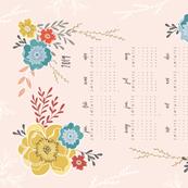 Sweet Vintage Floral 2019 Tea Towel Calendar
