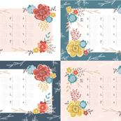 2019 Vintage Floral Tea Towel Sampler