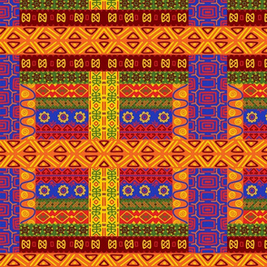 Native American Bright Symbol Border