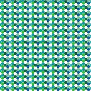 Soccer Hexagons, Greens, tiny