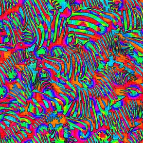 Rainbow Zebra Multi Red
