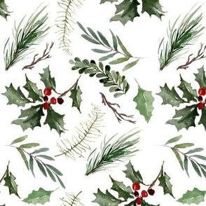 Christmas Holly // White