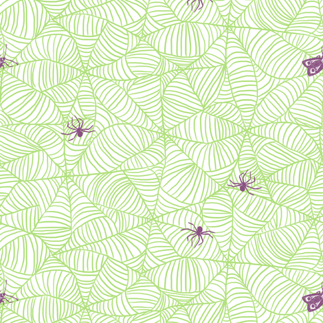 Web in Zombie fabric by house_designer on Spoonflower - custom fabric