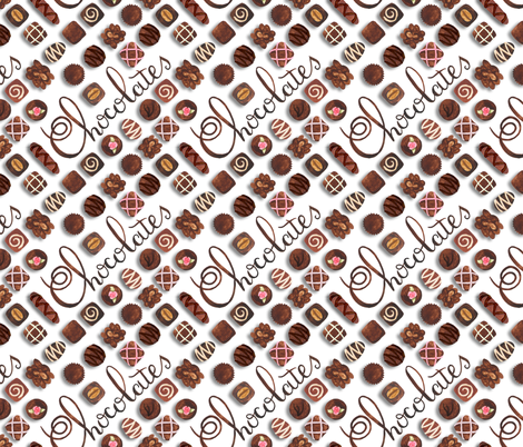 Chocolates fabric by denise_ortakales on Spoonflower - custom fabric