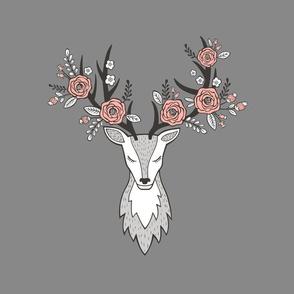 Deer Head  Pillow Plush Plushie Softie Cut & Sew