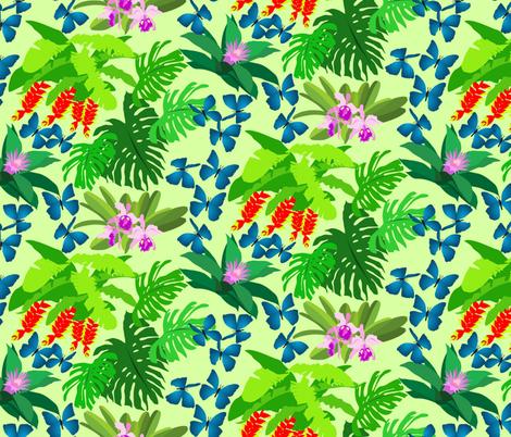 Jungle Flora - Light fabric by denise_ortakales on Spoonflower - custom fabric