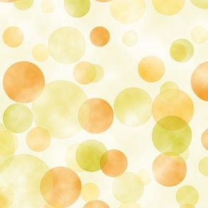 watercolored spring dots