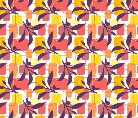 Peach Blossom fabric by denise_ortakales on Spoonflower - custom fabric