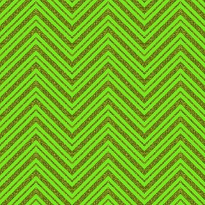 CD1 - Narrow Sparkly Olive and Lime  Zigzag Stripes