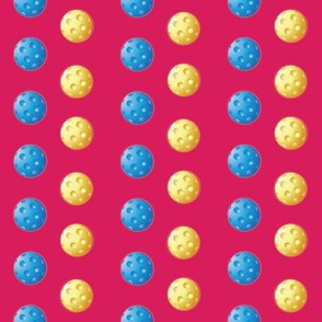 Pickleball Polka Dots on Pink