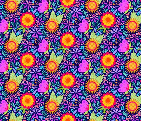 Summer Pickins - Dark fabric by denise_ortakales on Spoonflower - custom fabric