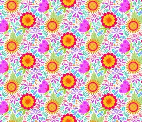 Summer Pickins -Light fabric by denise_ortakales on Spoonflower - custom fabric