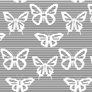 Spread your wings of hope and Fly!  XL -Black & white