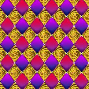Golden Harlequin Spirals