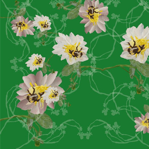 Buzzy bee flowers green