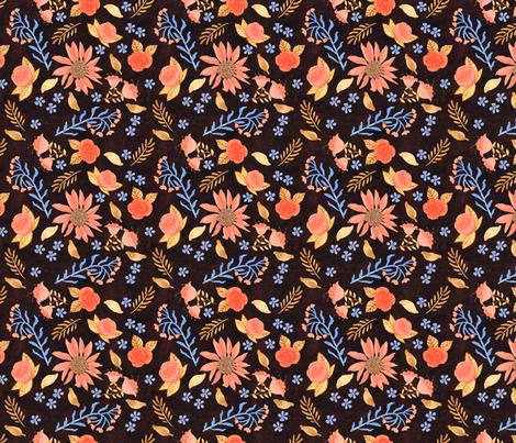 Tea Leaves - Dark fabric by denise_ortakales on Spoonflower - custom fabric
