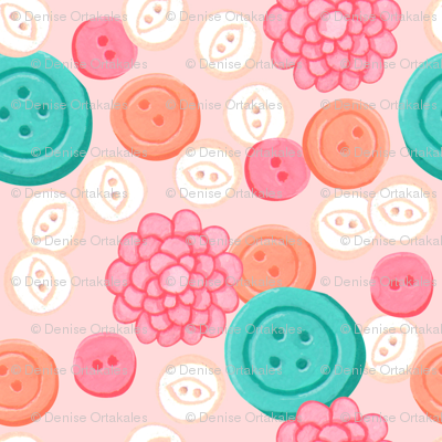 Sew Buttons - Pink