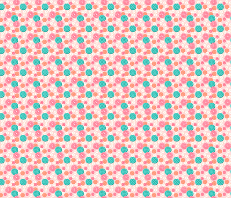 Sew Buttons - Pink fabric by denise_ortakales on Spoonflower - custom fabric