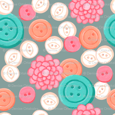 Sew Buttons - Slate