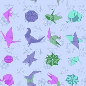 Origami Purple
