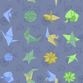 Origami Blue