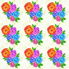 Vibrant Watercolor Flowers