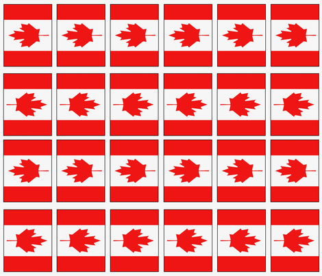 Canadian flag fabric by noelleodesigns on Spoonflower - custom fabric
