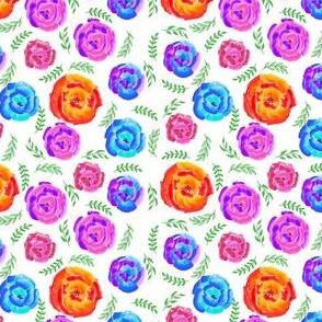 Vibrant Flowers Watercolor
