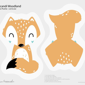 Scandi Woodland - Fox  Softie Plushie Cut&Sew