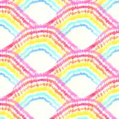 1960's Somewhere Over Tie Dye Rainbows