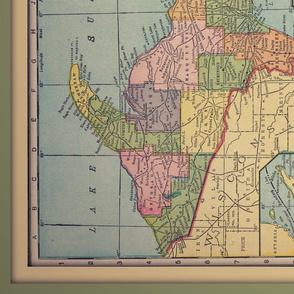 Michigan vintage map, XL yd