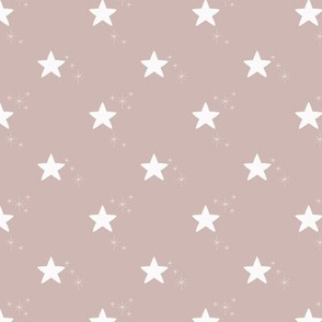 Small stars on rose gold