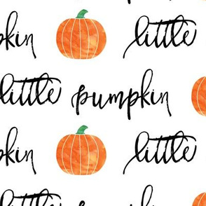 (large scale) little pumpkin - halloween - white - script C18BS