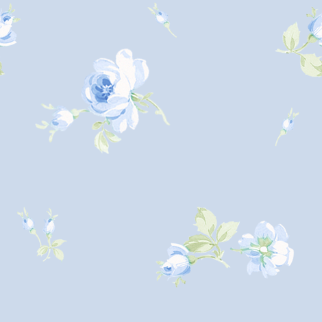 Lake Maria Scattered blueberry fabric by lilyoake on Spoonflower - custom fabric