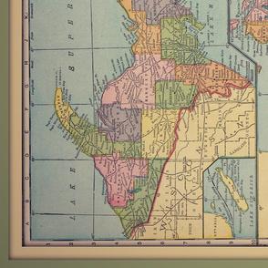 Michigan vintage map, yd