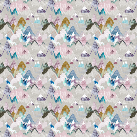 Call of the Mountains (PASTEL) XXXSML fabric by nouveau_bohemian on Spoonflower - custom fabric