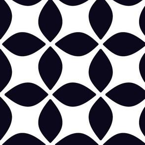 Black and White Geometric Modern Pattern
