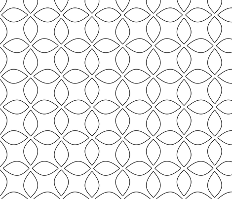 Black and White Geometric Modern Pattern fabric by silveroakdesign on Spoonflower - custom fabric