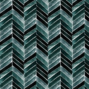 chevron painted-deep blue green-small