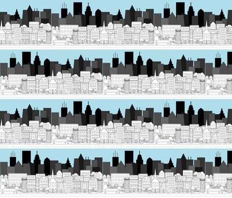Cityscape fabric by beccanom on Spoonflower - custom fabric