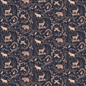 Winter Woodland Toile (liquorice) XXXSML
