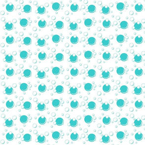 teal bubbles